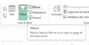 Créer des filtres Excel pour ordonner mes résultats